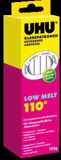 UHU Klebepatronen Low Melt 110C transparent elastisch 10 Sticks 125g