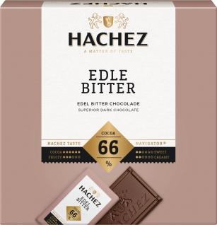 Hachez Edel Bitter Schokolade Täfelchenbox Hauch Vanille 165g