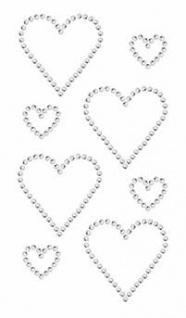 Sticker Strass Doppelte Herzen Crysta