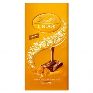 Lindt Lindor Caramel leckere Milchschokolade mit Karamell 100g
