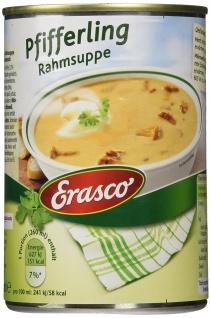 Erasco Pfifferling Rahmsuppe mit frischer Sahne und Pilzen 390ml