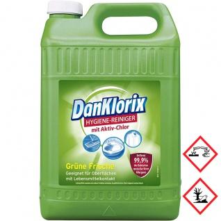 Dan Klorix Hygienereiniger Grüne Frische mit Ativ Chlor 5000ml