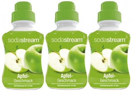 SodaStream Konzentrat Apfel Geschmack Getränkesirup 500ml 3er Pack