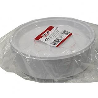 STARPAK 82694 Teller Plastik 22cm Weiß (100 Stck Packung)