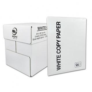 High White Kopierpapier DIN A4, gute Qualität 75g/m² 500 Blatt 5er Pack