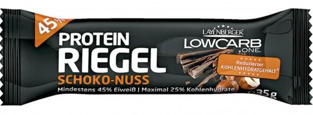 Layenberger Low Carb Riegel Schoko und Nuss Geschmack mit Protein 35g
