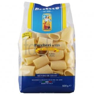 De Cecco Paccheri Nr 125 Hartweizengrießnudeln ohne Ei 500g 3er Pack