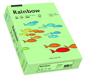 Kopierpapier Rainbow mittelgruen A4