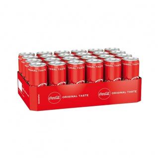 Coca Cola Dose koffeinhaltiges Erfrischungsgetränk 330ml 24er Pack