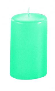 Kerzen Stumpenkerzen Candle türkis 130x70mm RAL Qualität 1 Stück