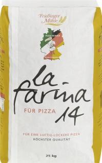Frießinger Mühle Pizzamehl 14 Typ 00 Weichweizen Mehl 25000g