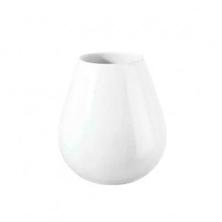 Vase Keramik ASA Selection weiss glänzender Tropfenform Höhe 18cm