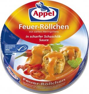 Appel Feuer Röllchen in scharfer Schaschlik Sauce 200g 12er Pack