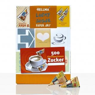 Hellma Lucky Sugar in der peppigen Verpackung Thekendisplay