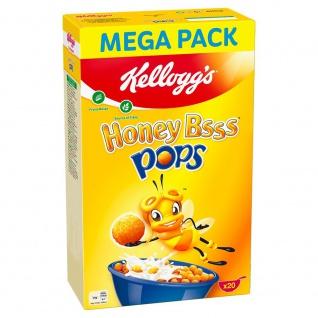 Kelloggs Honey Bsss Pops knusprige Cerealien mit Honiggeschmack 600 g
