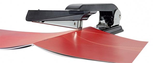 WEDO Swivel Hefter Universal Tischhefter aus Kunststoff Schwarz