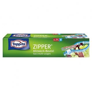 Toppits Zipper 3 Liter zum einfrieren frischhalten mit dem Zipper Reißverschluss