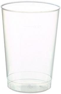 Einweg Trinkbecher 200ml transparent Polypropylen Papstar 40 Stück