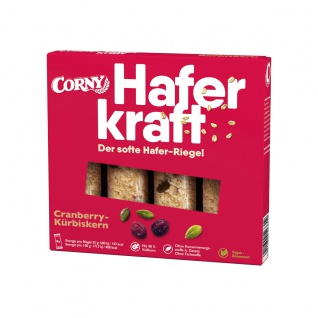 Corny Haferkraft Cranberry Kürbiskern einzeln verpackte Riegel 140g