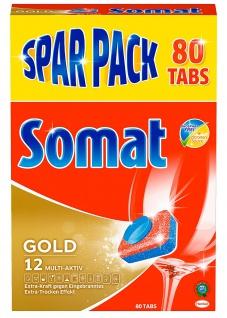 Somat Tabs 12 Gold mit Tiefenreinigung Sparpack 80er 1616g 2er Pack - Vorschau