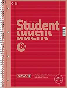 Collegeblock red DIN A4 Lineatur 27