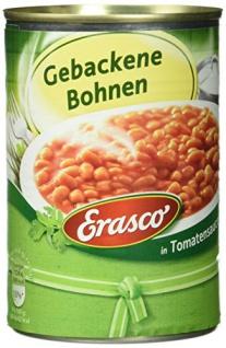 Erasco Fertiggericht gebackene Bohnen in Tomatensauce 400ml, 6er Pack
