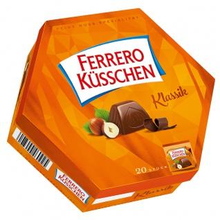 Ferrero Küsschen Geschenkverpackung 20 verpackte Pralinen 178g