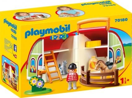 Playmobil 1 2 3 Mein Mitnehm Reiterhof Konstruktionsspiel 70180