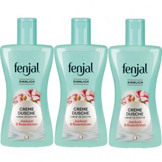 Fenjal Creme Dusche Sinnlich Jojoba Öl und Rosenblüten 200ml 3er Pack