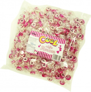 Cool Süße Herzen fruchtige Bonbons Beutel Wurfmaterial 1000g