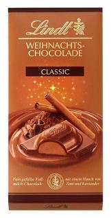 Lindt Weihnachts Chocolade mit einer Nuss Füllung 100g 4er Pack
