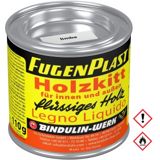 Bindulin Fugenplast Wasserfester Holzkitt Farbe Limba Metalldose 110g