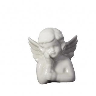 Engel weiß Porzellan 7x6x7 cm