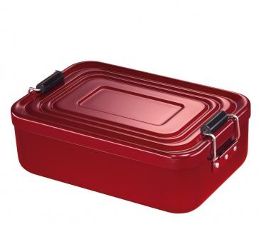 Küchenprofi Lunchbox groß Aluminium in der Farbe rot 23x15x7cm