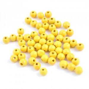 Meyco 120 Holzperlen 6mm in gelb schweiß und speichelfest Buchholz