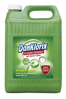 Dan Klorix Hygiene-Reiniger für Bad Küche Haus und Garten grüne Frische 5000ml