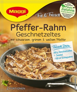 Maggi Fix Pfeffer Rahm-Geschnetzeltes