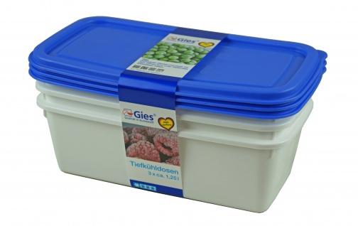 Tiefkühldosen, 3 x 1, 25 L, blau/transparent
