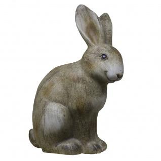 Blauth Hase Keramik braun Osterdekoration Dekohase 18x11x31cm