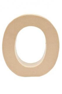 """Pappmache Buchstabe """" O"""" stehend zum basteln kreativ Rico Design Idee"""
