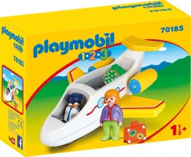 Playmobil 1 2 3 Passagierflugzeug Konstruktionsspielzeug 70185