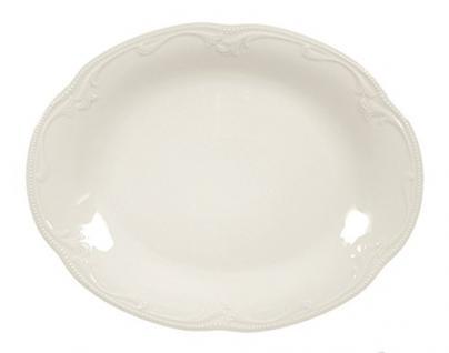 Königlich Tettau 004.029101 Platte oval 31 cm, Rubin cream
