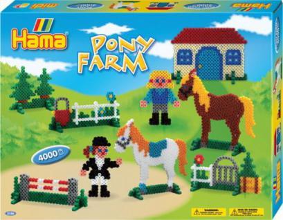 HAMA Geschenkpackung Ponyhof 4.000 Stück, 1 Set