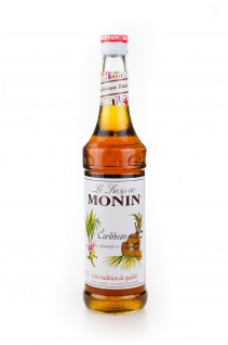 Monin Caribbean Rum Likör Sirup 0, 7 Liter