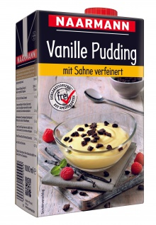 Naarmann Vanille Pudding mit Sahne verfeinert servierfertig 1000ml