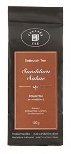 Paulsen Rotbusch Tee Sanddorn Sahne Kräutertee aromatisiert 100g