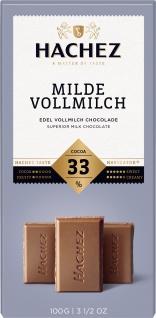 Hachez Milde Vollmilch Schokoladen Tafel mit Karamell Note 100g
