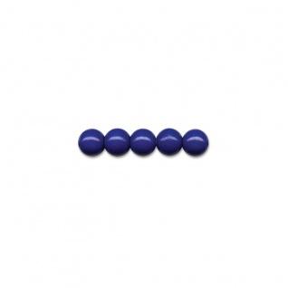 Brunnen 50 Holzperlen 10mm marineblau für Ketten und Armbänder