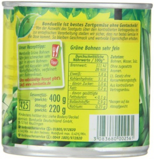 Bonduelle grüne Bohnen sehr fein frisch verarbeitet 220g 12er Pack