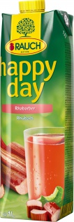 Rauch Happy Day Rhabarber Fruchtsaft fruchtig herb 1000ml 6er Pack